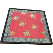 SALE Framed Oriental Silk Material