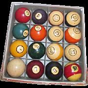 Boxed Set of Brunswick Pocket Balls (Billiards) Original Box