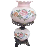 Satin Finished Gone with the Wind Style Lamp Hand Painted Roses