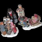Set of 4 Figurines for Christmas Display