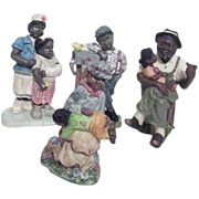 Set of 4 Black American Figurines