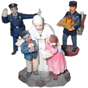 Set of 3 Little People for Christmas Village