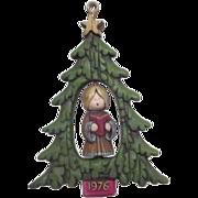 Hallmark 1976 Singing Angel Inside Christmas Tree Ornament