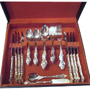 Gold Plated Silverware Set of 44 Pieces Royal Sealy Pattern