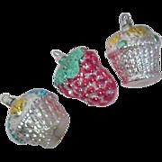 Set of 3 West German Christmas Ornaments