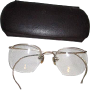 Pair of 12k Gold Filled Eyeglasses with Case