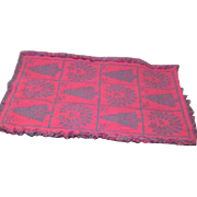 Reversible Red and Green Christmas Lap Throw