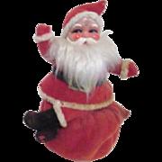 Vintage Felt Christmas Santa Seated on Bag Bank