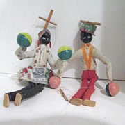 Vintage Pair of Black Marionettes-Entertainers (Puppets)
