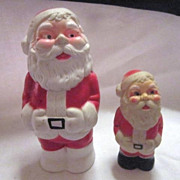 Two Santa Rubber Squeeze Toys