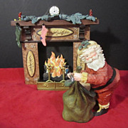 """Hallmark Limited Edition Gold Crown Collectible """"Filling The Stockings"""""""