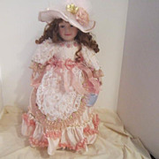 "Vintage Handcrafted Porcelain Doll ""Jenna"" by William Tung"