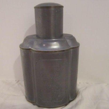Vintage Pewter Flask Made For Gumps Of San Francisco .