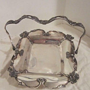 Vintage Silver Plated Brides Basket By Forbes