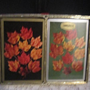 Vintage Double Set of Congress Playing Cards, Autumn Leaves