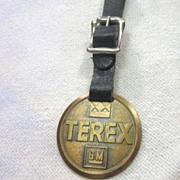 Vintage Watch Fob Terex GM