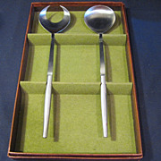 Salad Serving Set from Italy Stainless Steel