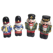 2 Sets of Toy Soldier & Nutcracker S & P Shakers