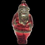 Early Plastic Santa Ornament