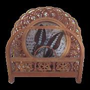 Set of 6 Japanese Bamboo Butterfly Chataku (Teacup Saucer/Coaster) in Original Holder