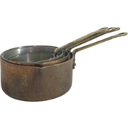 Set of 4 Copper Graduated Measuring Cups