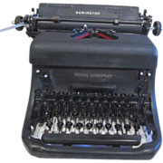 Vintage Remington Typewriter with Soft Cover