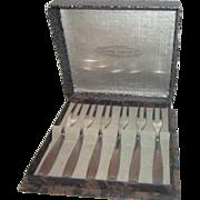 Set of 6 Demitasse Forks by Gero Zilvium of Holland