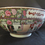 Large Vintage Chinese Bowl in the Familia Rose Colors