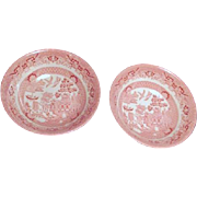 Two Pink Willow Coupe Cereal Bowls