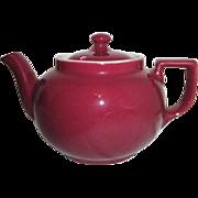 Hall Lidded Burgundy Color Teapot