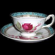 Royal Grafton English Bone China Cup & Saucer with Roses
