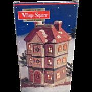 Mervyn's Christmas Village Square Ceramic Higgins Tailor