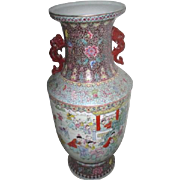 """29"""" High hand Painted Chinese Vase with Children Playing"""