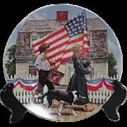 Patriotic Decorator Plate by Knowles