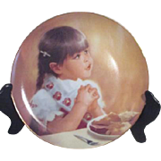 Decorator Plate by Donald Zolan 1987 I'm Thankful Too