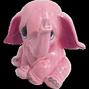 Ceramic Pink Elephant Bank