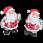 Pair of Ceramic Christmas Santa Banks