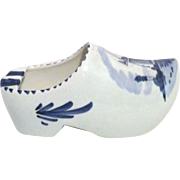 Hand Painted Blue and White Delft Clog Shoe Ashtray