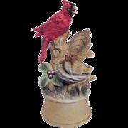 Porcelain Red Cardinal Music Box