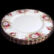 Set of 4 Royal Albert Salad Plates Celebration Pattern