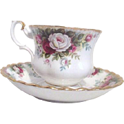 Royal Albert Bone China Celebration Pattern Cup Saucer