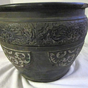 SALE Antique Japanese Clay Pot