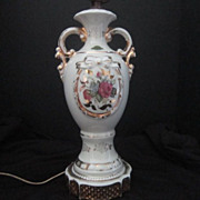 Vintage Hand Painted Ceramic Lamp Base