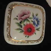 Vintage Square Porcelain Music Box by Heritage House