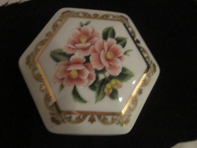 Vintage Hexagon shaped Music Box By Heritage House
