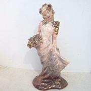 Vintage Hedi Schoop Figurine Oriental Lady with Flowers