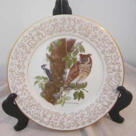 Vintage Don Whitlatch Gorham Limited Edition Decorator Plate  Long-Eared Owl