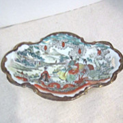 Vintage Small Japanese Porcelain Hand Painted Serving Dish