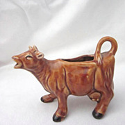 Ceramic Figural Brown Cow Creamer