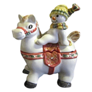 Fritz & Floyd Essentials The Flurries Series Snowman on Horse